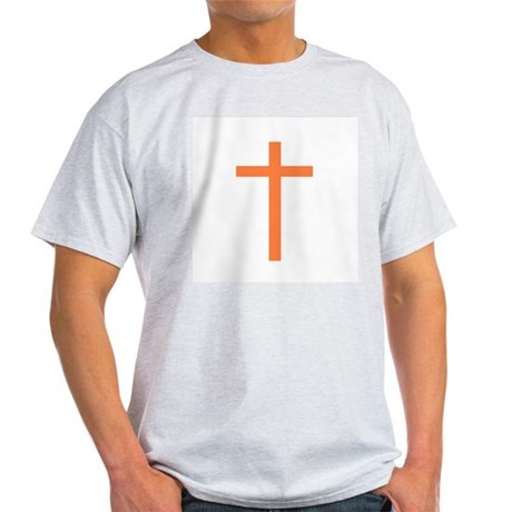 Orange Cross Ash Grey T-Shirt
