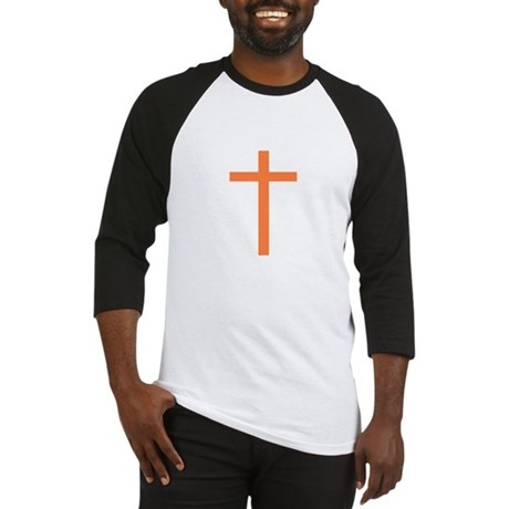 Orange Cross Baseball Jersey