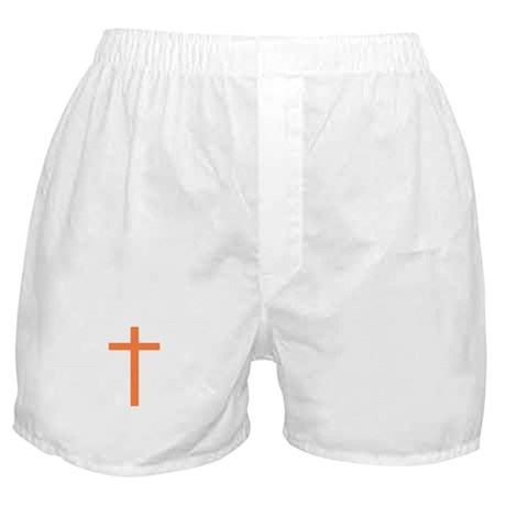 Orange Cross Boxer Shorts