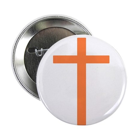 "Orange Cross 2.25"" Button (10 pack)"