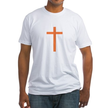 Orange Cross Fitted T-Shirt