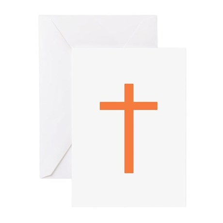 Orange Cross Greeting Cards (Pk of 10)