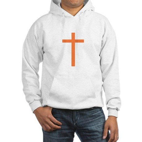 Orange Cross Hooded Sweatshirt