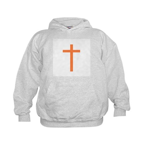 Orange Cross Kids Hoodie