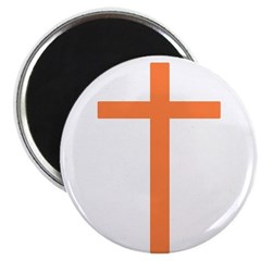 "Orange Cross 2.25"" Magnet (100 pack)"