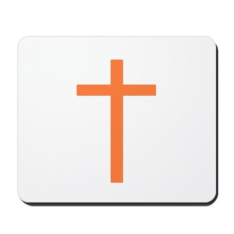 Orange Cross Mousepad