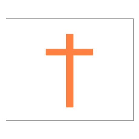 Orange Cross Small Poster
