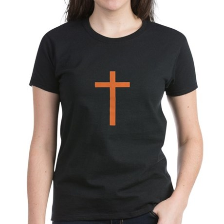 Orange Cross Women's Dark T-Shirt