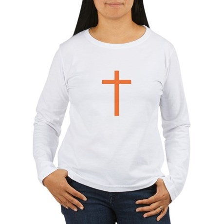 Orange Cross Women's Long Sleeve T-Shirt