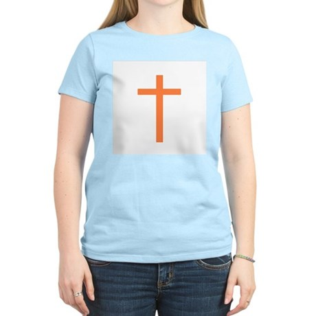 Orange Cross Women's Pink T-Shirt