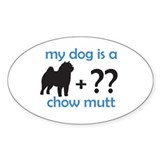 Chow Mutt Oval Decal