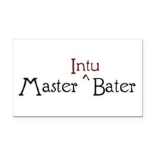 Master Intubater Rectangle Car Magnet
