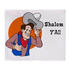 Shalom YAll Throw Blanket