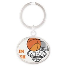 Aim High Oval Keychain