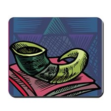 Jewish New year Card-Shofar 2 Mousepad