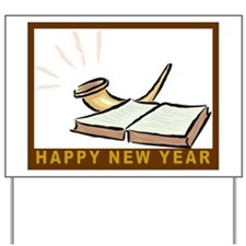 Jewish New Year-Book and Shofar Yard Sign