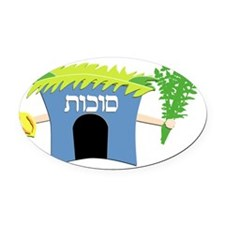 Sukkot Oval Car Magnet