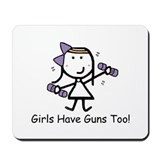 Exercise - Girls Guns Mousepad