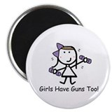 "Exercise - Girls Guns 2.25"" Magnet (100 pack)"