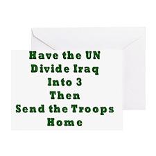 Iraq into 3 Greeting Card