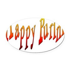 Happy Purim3 Oval Car Magnet
