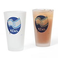 Israeli Flag Drinking Glass
