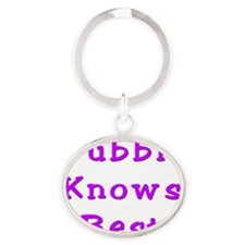 Bubbie Knows Best Oval Keychain