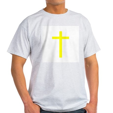 Yellow Cross Ash Grey T-Shirt