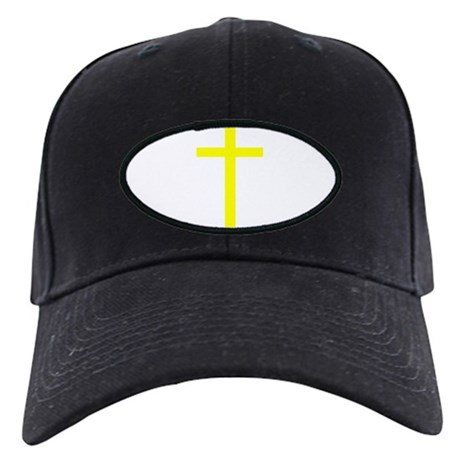 Yellow Cross Black Cap