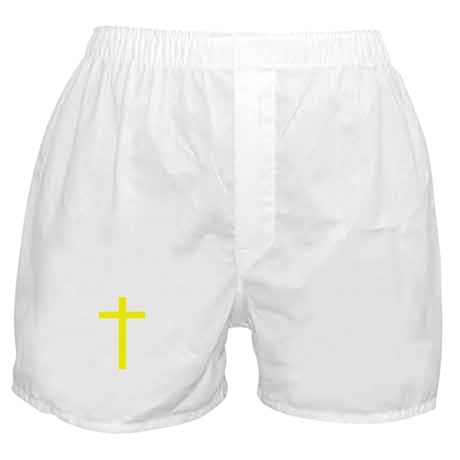 Yellow Cross Boxer Shorts