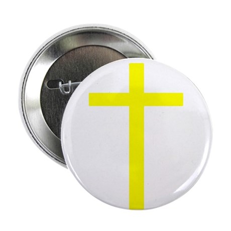 "Yellow Cross 2.25"" Button (10 pack)"