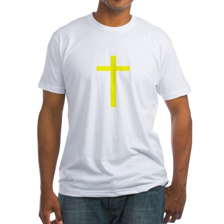 Yellow Cross Fitted T-Shirt