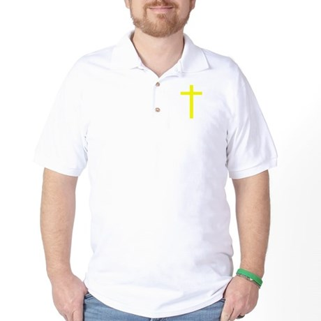 Yellow Cross Golf Shirt