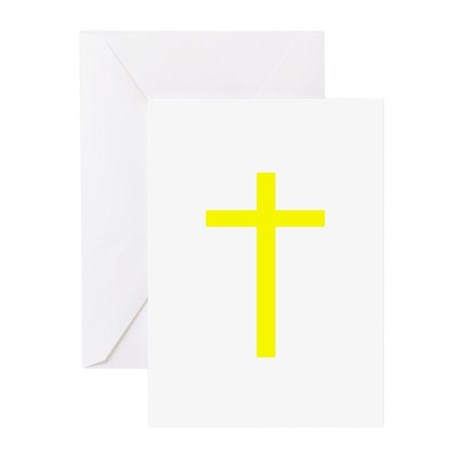 Yellow Cross Greeting Cards (Pk of 10)