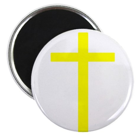 "Yellow Cross 2.25"" Magnet (10 pack)"