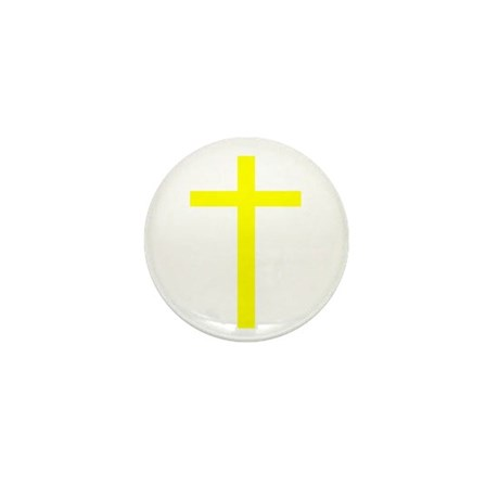 Yellow Cross Mini Button