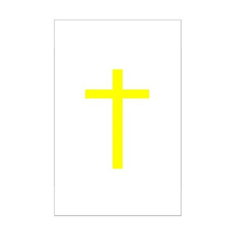 Yellow Cross Mini Poster Print
