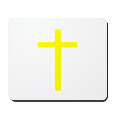 Yellow Cross Mousepad