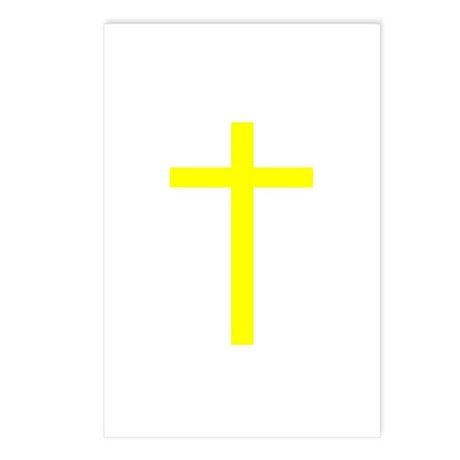 Yellow Cross Postcards (Package of 8)
