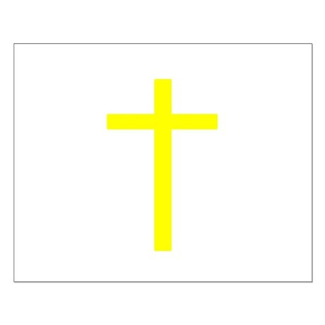 Yellow Cross Small Poster