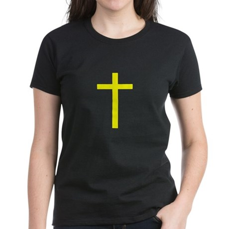 Yellow Cross Women's Dark T-Shirt