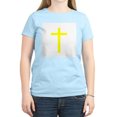 Yellow Cross Women's Pink T-Shirt