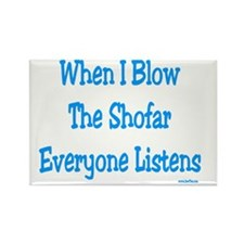 Blow Shofar Rectangle Magnet