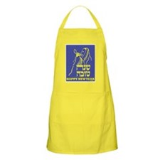 Happy New Year Card Apron