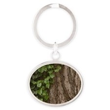 Rosh Hashanah Tree Of Life Oval Keychain