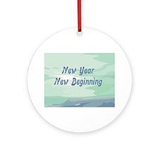 New Year New Beginning Round Ornament