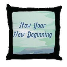 New Year New Beginning Throw Pillow
