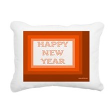 Happy Jewish New Year Rectangular Canvas Pillow
