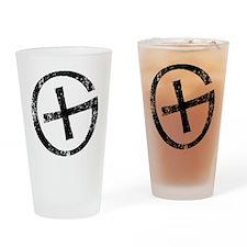 Geocache symbol distresssed Drinking Glass