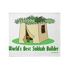 wWorlds Best Sukkah Builder Throw Blanket